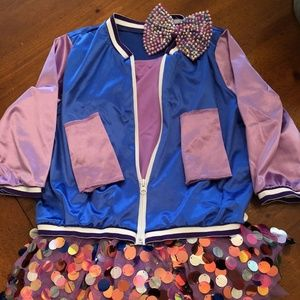 Weissman Competition Dance Costume Paillette Skirt